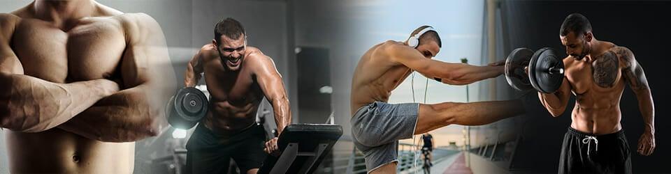 men doing preworkout