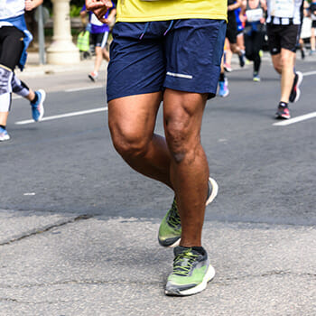 man running for long distance