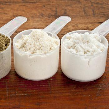 Different Protein Powder Scoop