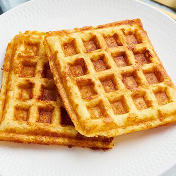 waffles in plate