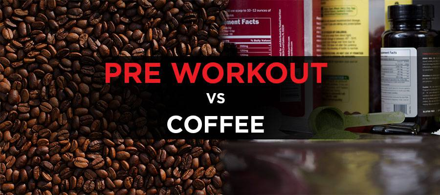 coffee beans, pre workout supplements in scoops