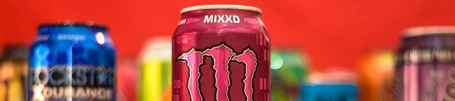 various energy drinks