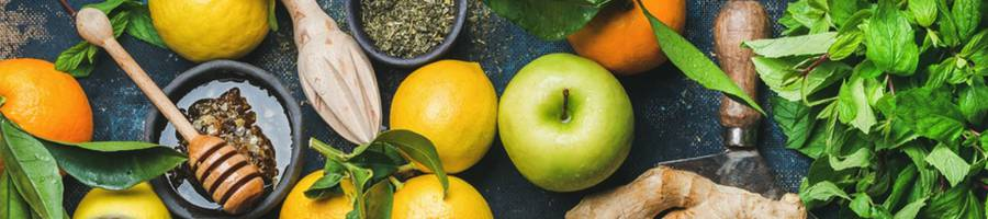 fruits and greens banner