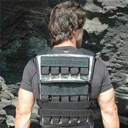 man wearing weighted vest