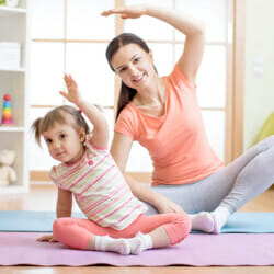 exercising with toddler