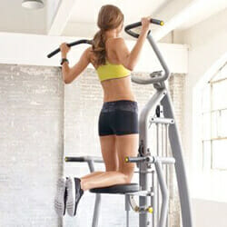 woman doing assisted pull up