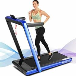 ancheer 2 in 1 best folding treadmill