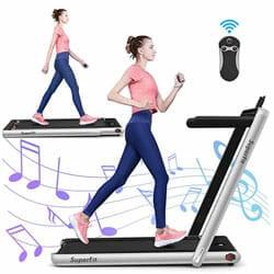 gymax-2in1-under-desk-treadmill best folding treadmills feature
