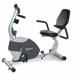 velocity gray recumbent exercise bike