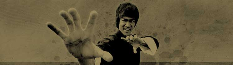 bruce lee martial arts fighting stance