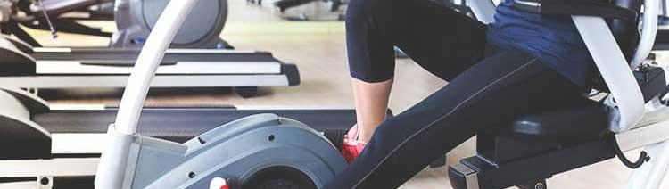 recumbent bike exercise measuring heart rate
