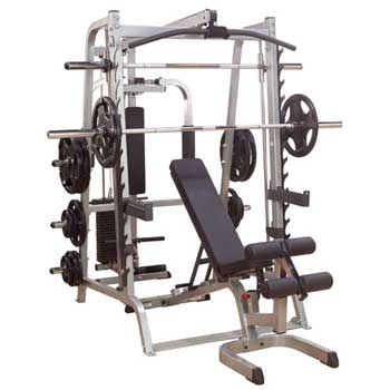 Body-Solid GS348QP4 Series 7 Smith Machine Gym Package
