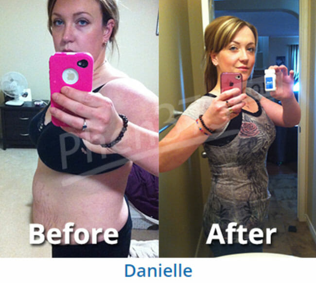 Danielle before and after with Phen375