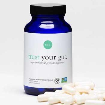 Ora Organic Vegan Probiotics with Prebiotics Capsules