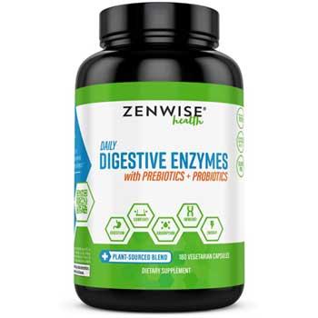 Zenwise Health Digestive Enzymes Plus Prebiotics & Probiotics Supplement