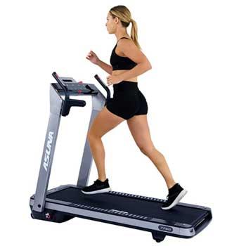 Treadmill - Sunny Health & Fitness Asuna SpaceFlex Motorized Running Treadmill