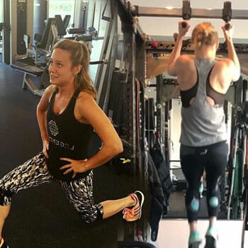 brie larson full body workout