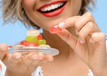 eating gummies