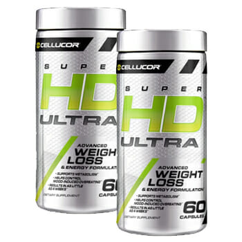 Two products of Cellucor SuperHD Ultra