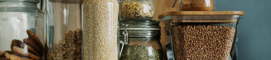 ingredients in jars