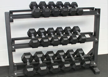 dumbbell rack weght