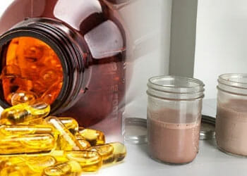 fish oil and protein drink