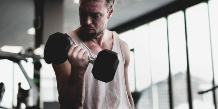 Chest Exercise with Dumbbells