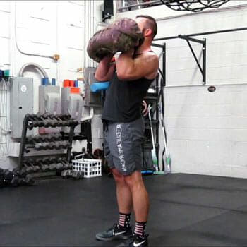 Hammer Curls using a Sandbag