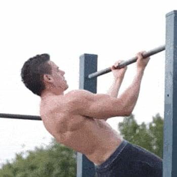 man doing headbangers