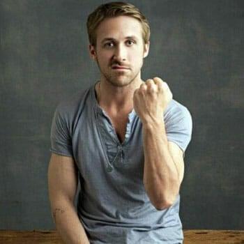 ryan gosling in a fist bump