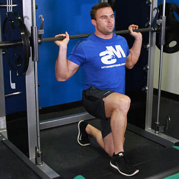 split squats using a smith machine
