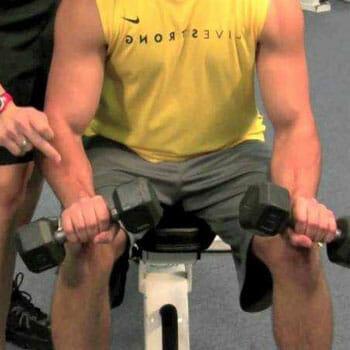 man doing wrist extension
