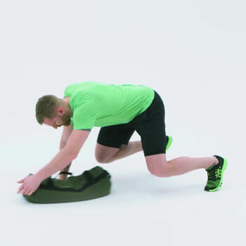 spider crawl with a lateral pull