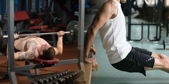 Difference between dips and bench press