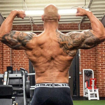 the rock and his back muscles
