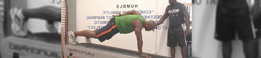 a person doing workout on a launchpad