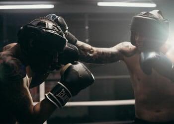men in a boxing match