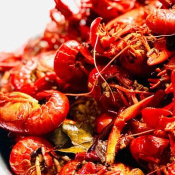 stack of shrimp