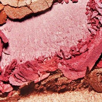 A close-up shot of a make up powder
