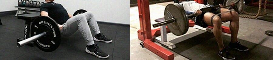 Barbell hip thrust training