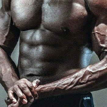 close up image of a man's abs