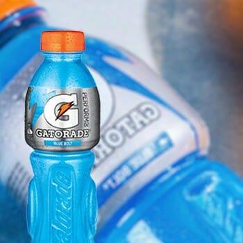 "A ""blue bolt"" flavor of a sports drink"