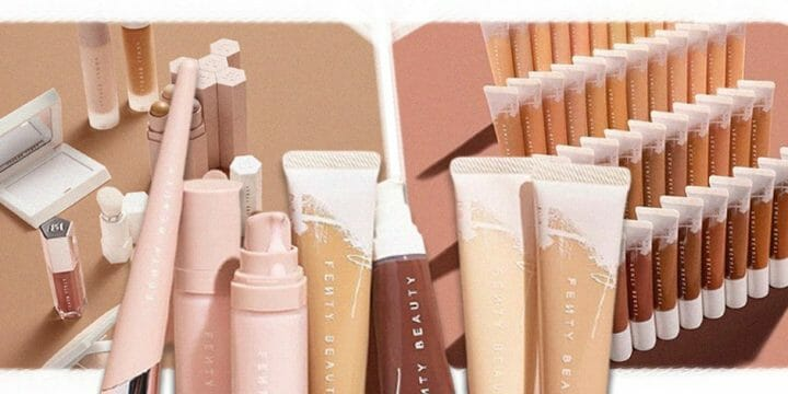 A collection of a beauty product brand