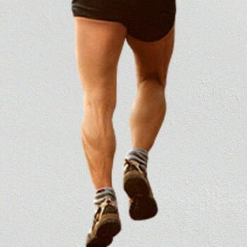 A man's calves muscle