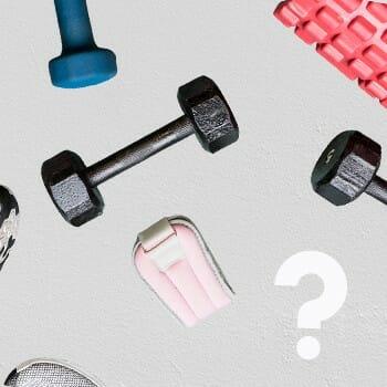 different fitness equipment
