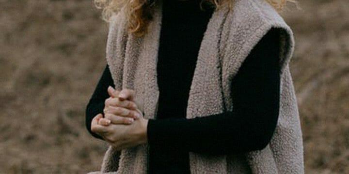 A girl wearing a fleece outfit