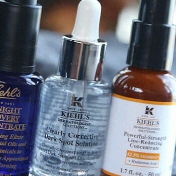 Skin care solutions of a known brand