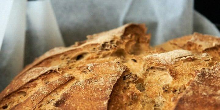 A sourdough bread top