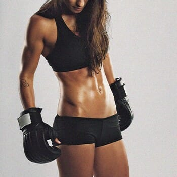 Boxing provides a full body workout for females