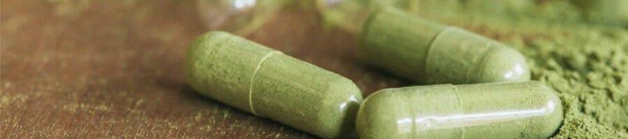 A close up shot of a chlorophyll supplement